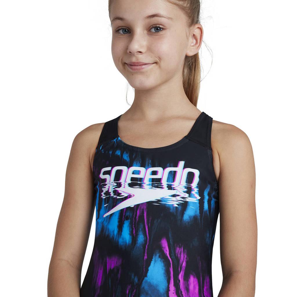 Speedo Endurance10 sportbadpak Digital Placement zwart/blauw/roze, Zwart/blauw/roze