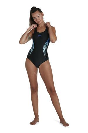 Endurance10 sportbadpak zwart/blauw