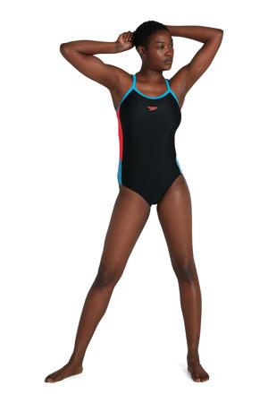 Endurance10 sportbadpak Dive zwart/blauw/rood