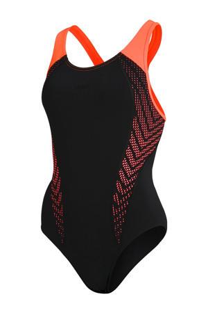 Endurance+ sportbadpak Laneback zwart/oranje
