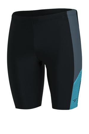 Endurance10 zwemboxer Dive Jammer zwart/grijs/blauw