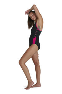 Speedo Endurance+ sportbadpak Boom Splice zwart/roze, Zwart/roze