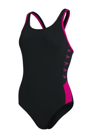 Endurance+ sportbadpak Boom Splice zwart/roze