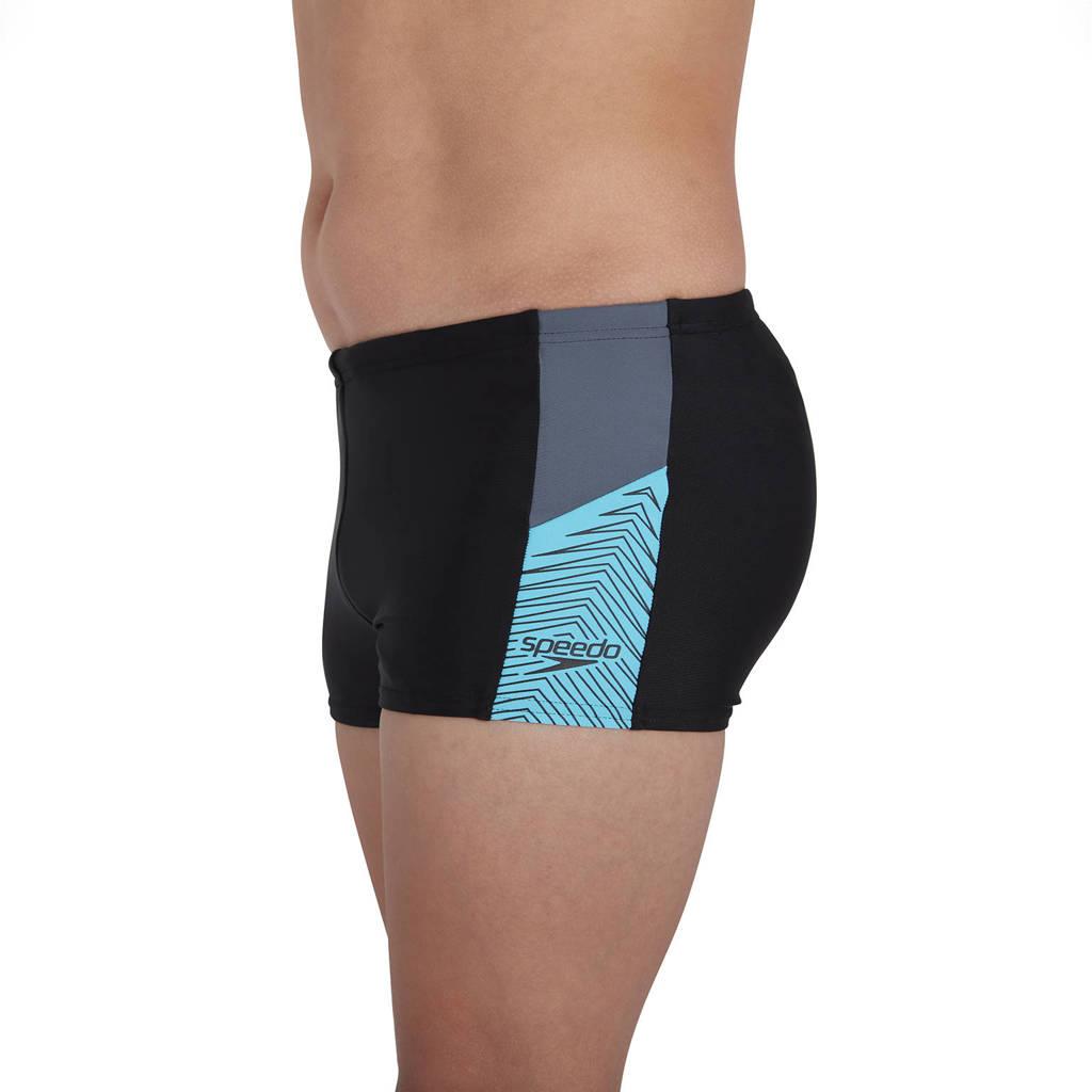 Speedo Endurance 10 zwemboxer Dive zwart/lichtblauw, Zwart/lichtblauw