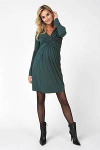 Noppies zwangerschaps- en voedingsjurk Renate met plooien groen, Groen