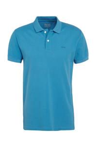 ESPRIT Men Casual slim fit polo van biologisch katoen turquoise, Turquoise