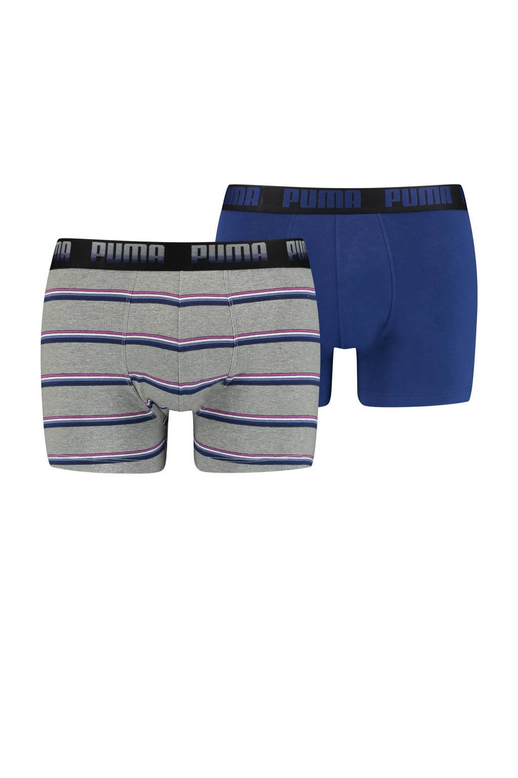 Puma boxershort (set van 2), Grijs/blauw