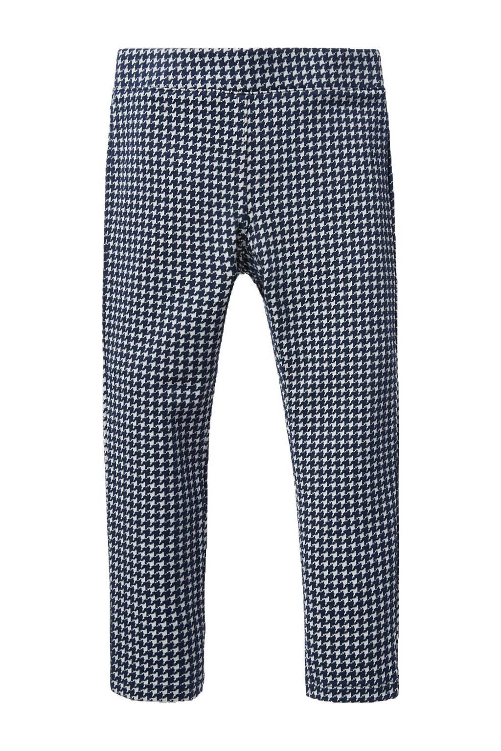 C&A Palomino broek met pied-de-poule donkerblauw/wit, Donkerblauw/wit