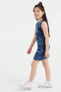 WE Fashion tie-dye maxi jurk donkerblauw, Donkerblauw