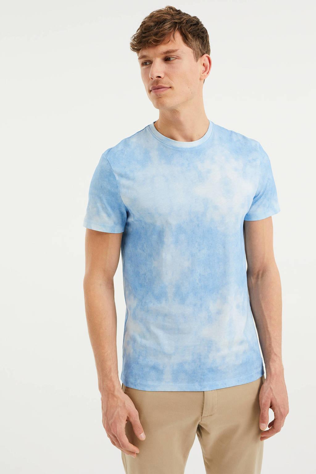 WE Fashion tie-dye T-shirt bravo blue, Bravo Blue