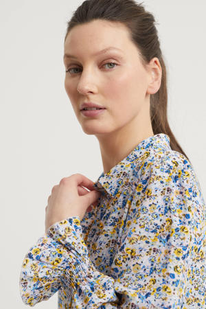 blouse met all-over print wit/multi