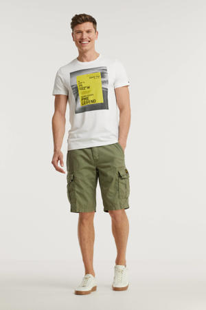 regular fit cargo short DOBBY STRUCTURE army