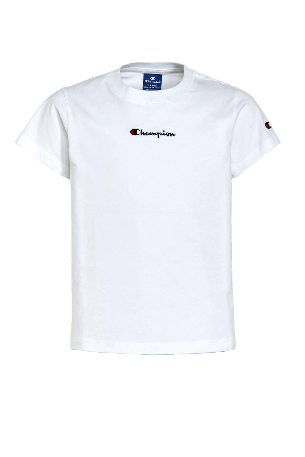 Champion T-shirt met logo wit, Wit
