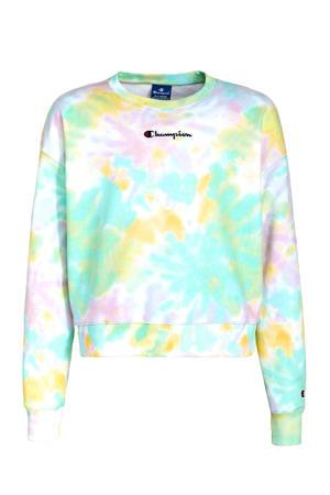 tie-dye sweater mintgroen/multicolor