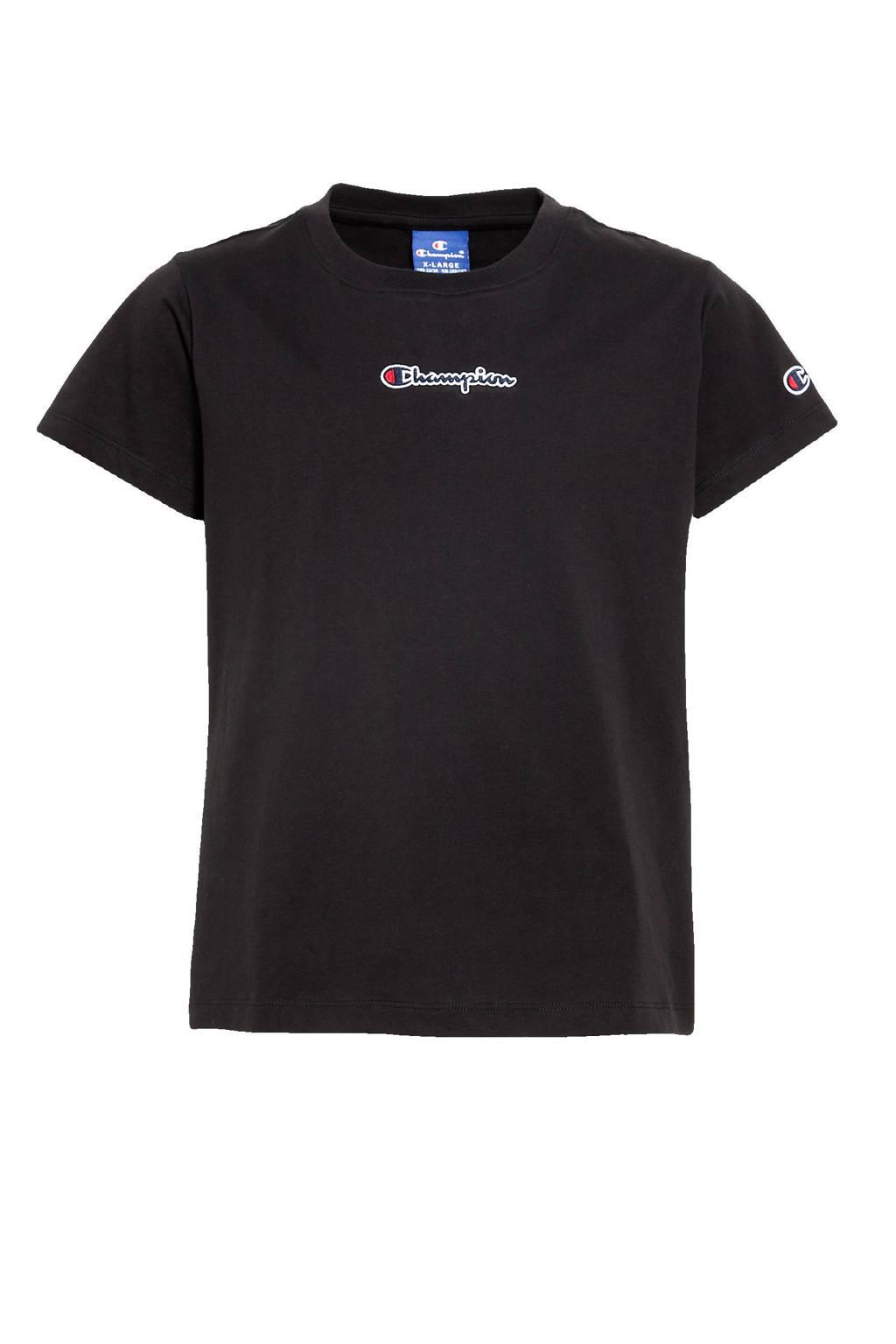 Champion T-shirt met logo zwart, Zwart