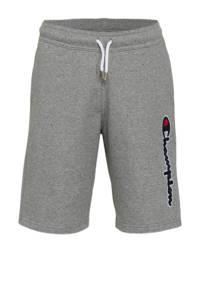 Champion sweatshort met logo grijs melange, Grijs melange