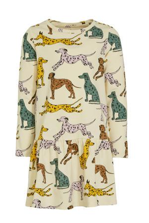 A-lijn jurk Chloe met all over print ecru/multicolor