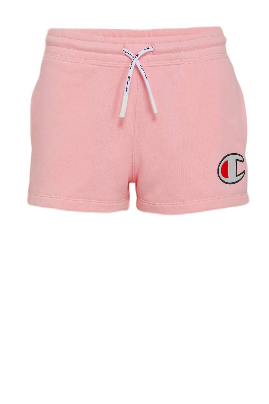 Champion sweatshort met logo roze, Roze