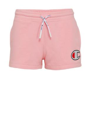 sweatshort met logo roze