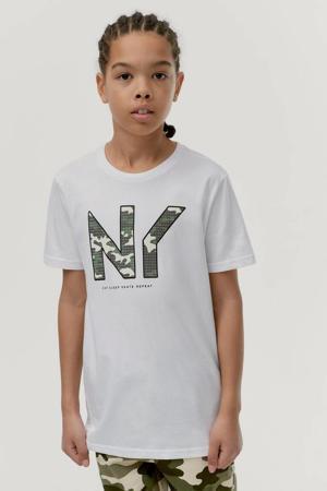T-shirt Jonah met printopdruk wit