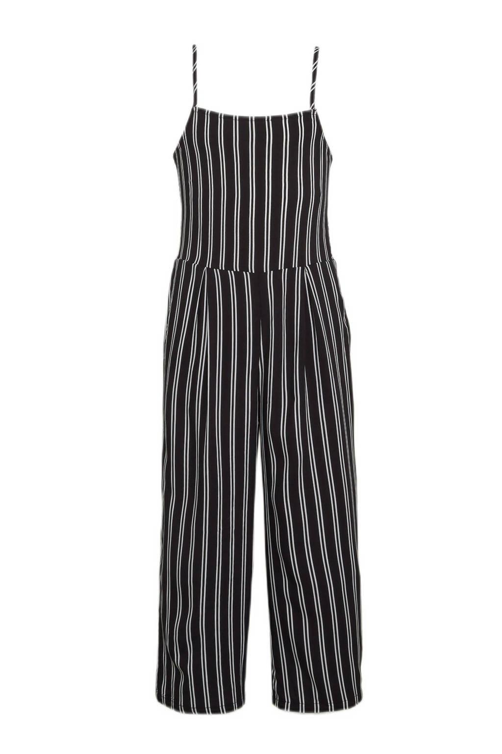 Ellos gestreepte jumpsuit Freya zwart/wit, Zwart/wit