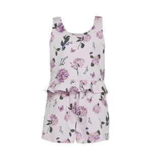 mouwloze top + short roze