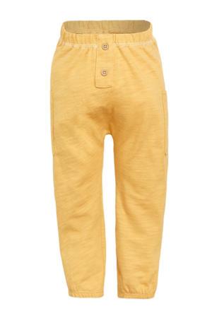 baby slim fit broek Murphy geel