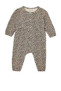 Ellos baby boxpak Lia met panterprint ecru/bruin, Ecru/bruin