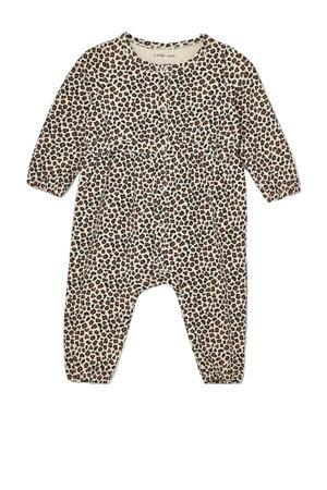 baby boxpak Lia met panterprint ecru/bruin