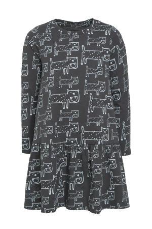 A-lijn jurk Chloe met all over print zwart/wit