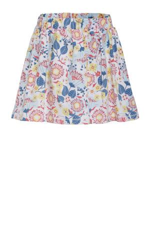 gebloemde rok Ella roze/blauw