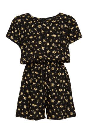 gebloemde jumpsuit Briella zwart/geel