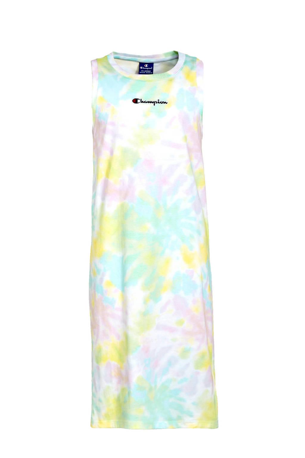 Champion tie-dye maxi jurk mintgroen/multicolor, Mintgroen/multicolor