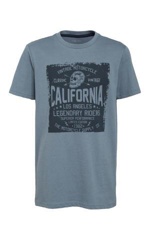 T-shirt Jonah met printopdruk blauw