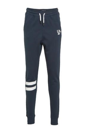 slim fit joggingbroek Vincent donkerblauw
