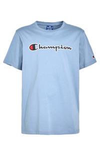 Champion T-shirt met logo lavendelblauw, Lavendelblauw