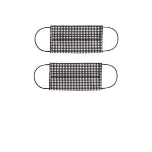 mondkapje - set van 2 zwart/wit