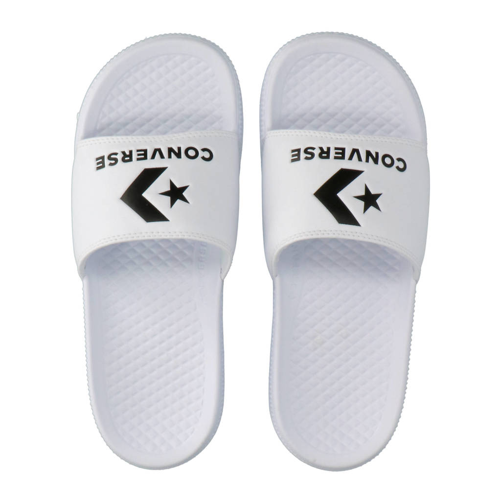 Converse All Star Slide sneakers wit/zwart, Wit/zwart