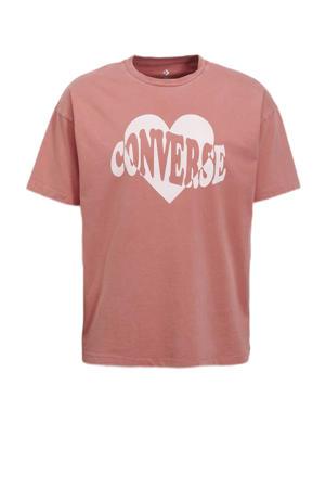 T-shirt koraalrood