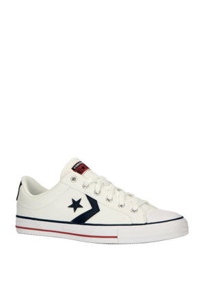 Star Player OX suède sneakers wit/donkerblauw