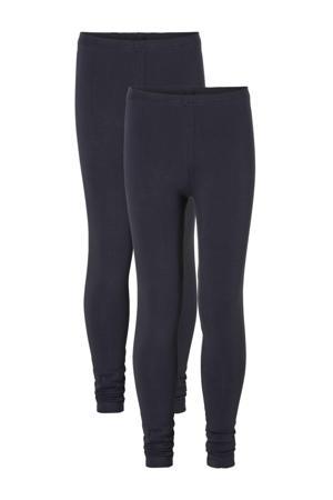 legging - set van 2 donkerblauw