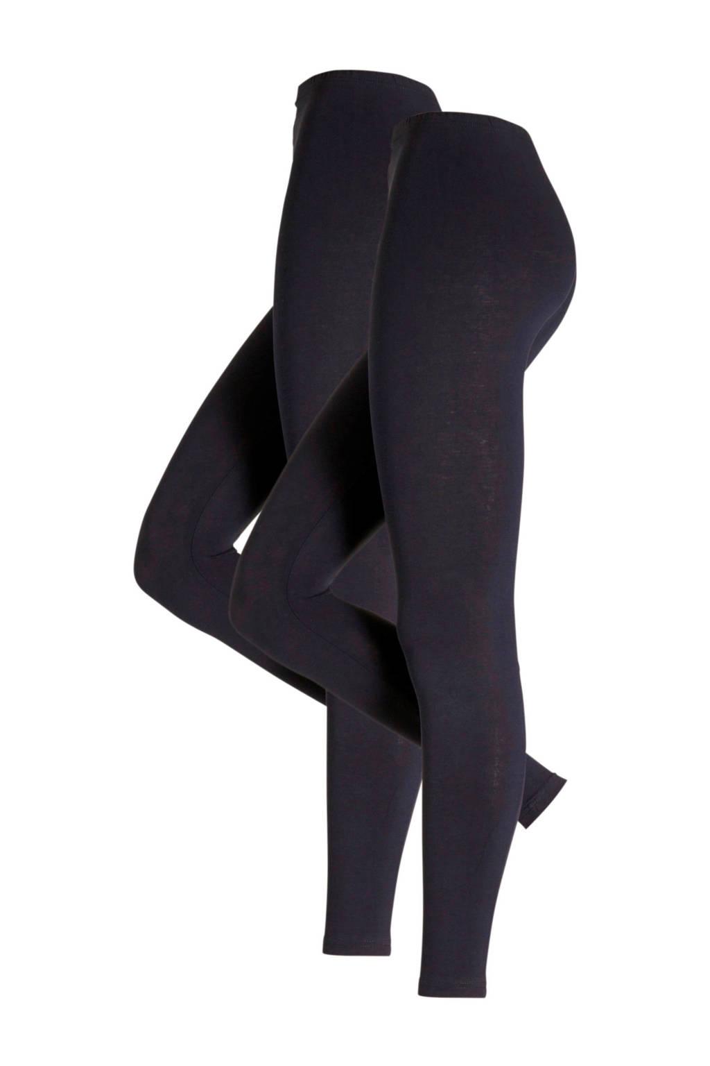 whkmp's own legging - set van 2 donkerblauw, Donkerblauw