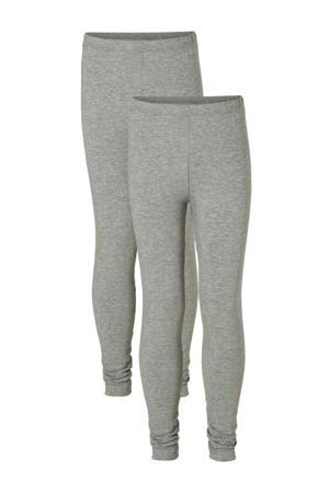 legging - set van 2 grijs melange