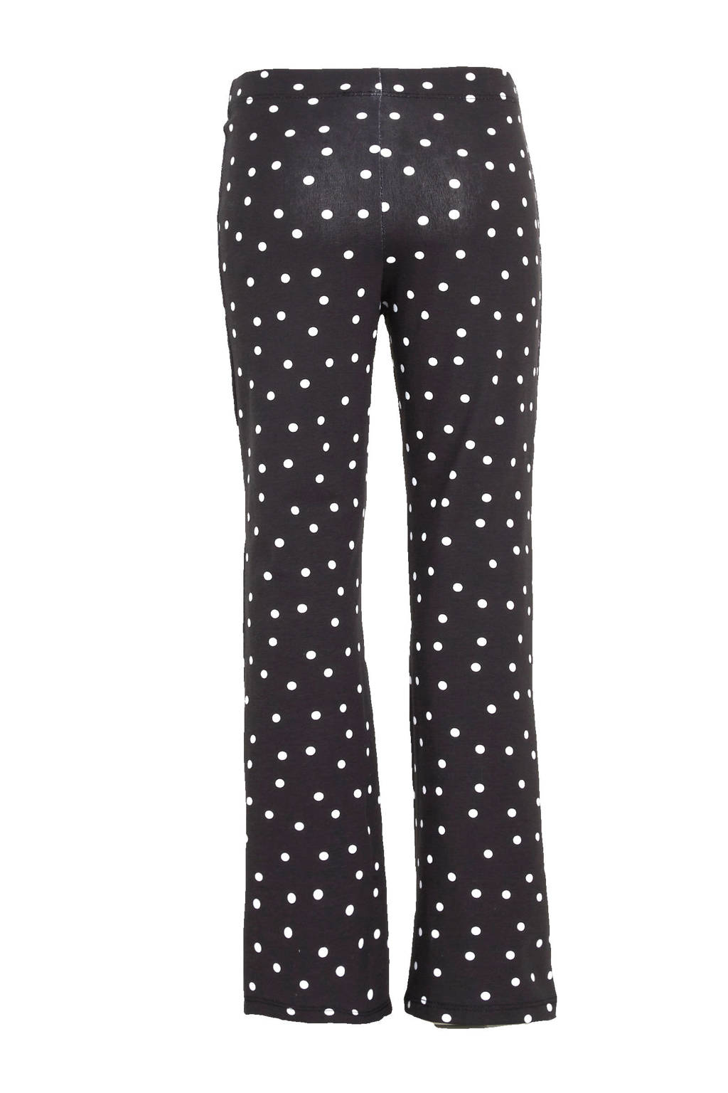 Ellos flared broek Ebb met all over print zwart/wit, Zwart/wit