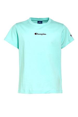 T-shirt met logo aquablauw