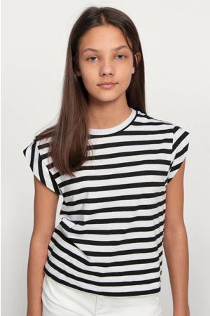 gestreept T-shirt Ashley zwart/wit