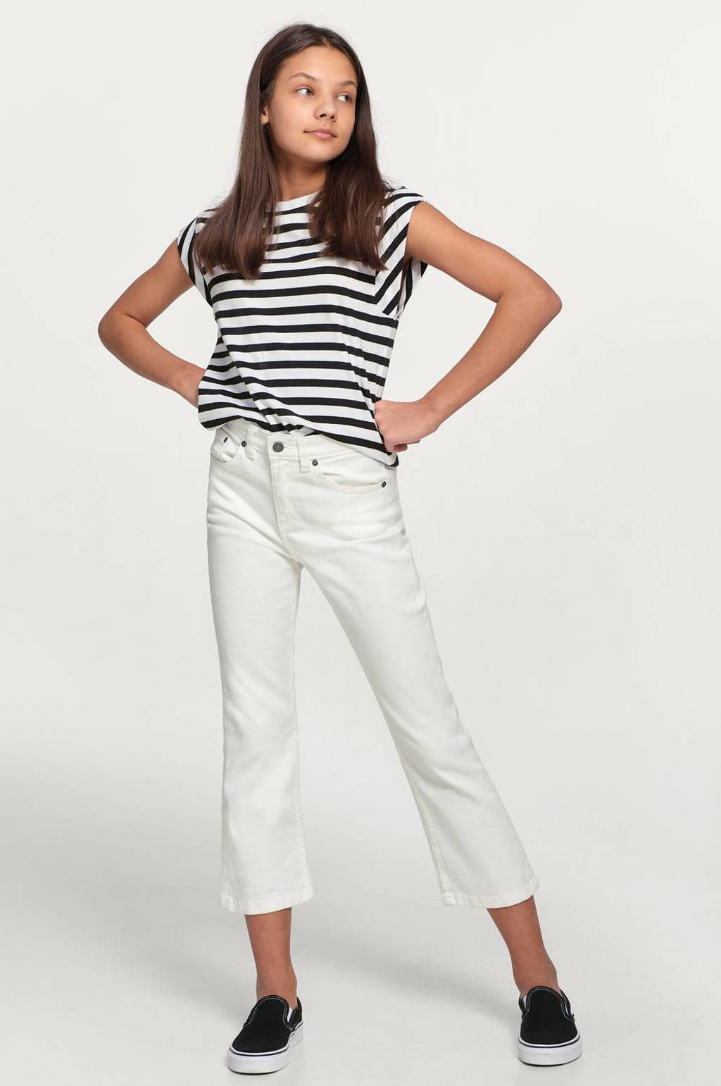 Ellos gestreept T-shirt Ashley zwart/wit, Zwart/wit