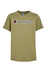 Champion T-shirt met logo army groen, Army groen