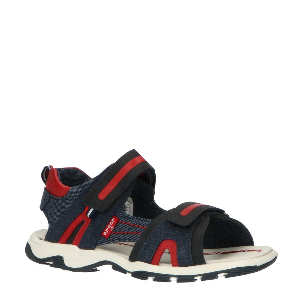 Levi's Kids Davenport  sandalen blauw/rood, Blauw/rood