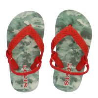 Levi's Kids South Beach Mini  teenslippers met camouflageprint rood/groen, Rood/groen